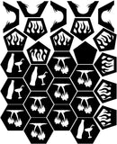 Fire Pit Hexagon Ball of Awesomeness 24in - Seperate Pieces - DXF File