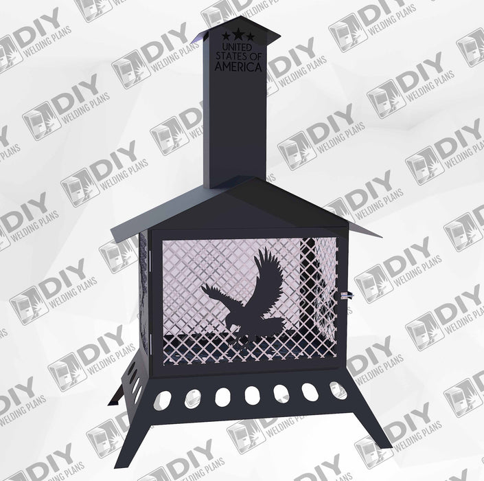 Fire Pit With Chimney Eagle animals