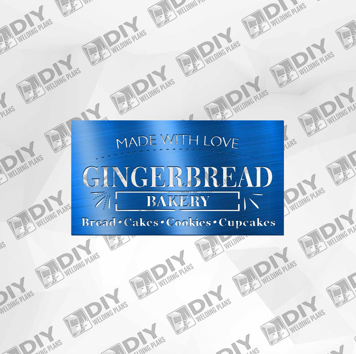 Gingerbread Bakery DXF Plasma File