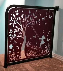 Girl Swinging Under Tree DXF Cut File