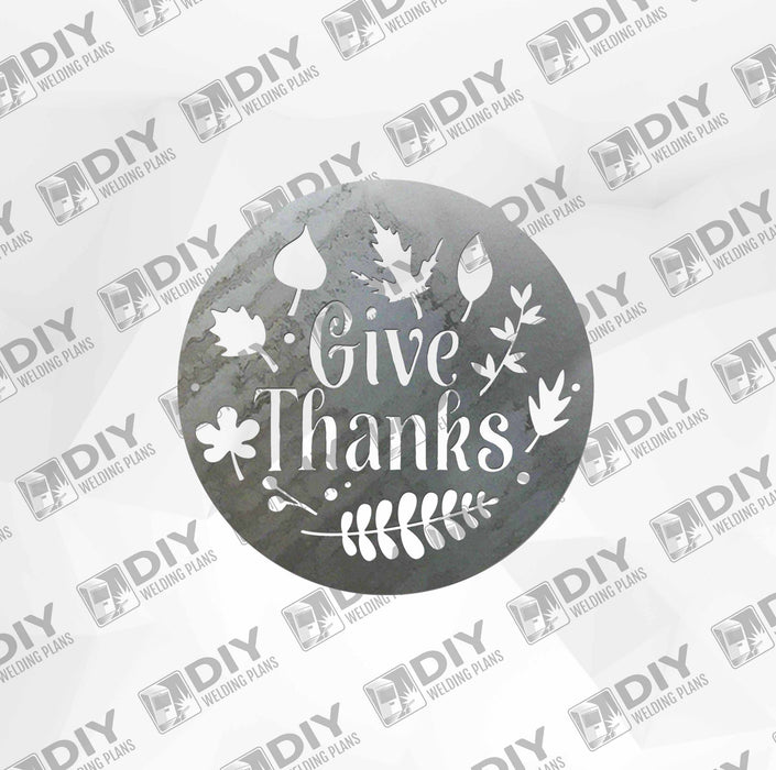 Give Thanks  - DXF File Only