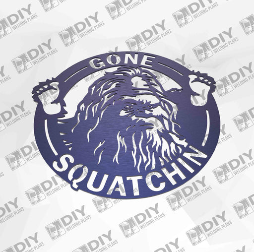 "12"" Gone Squatchin Sign DXF Plasma File"