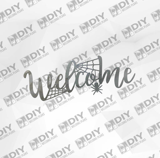 Halloween Spider Welcome Sign DXF Plasma File