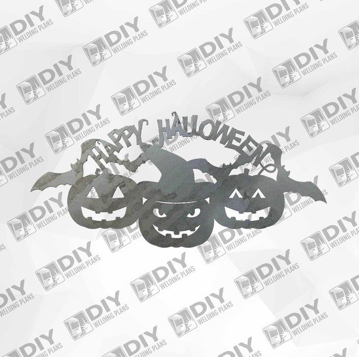 Happy Halloween Pumpkin Sign DXF Plasma File