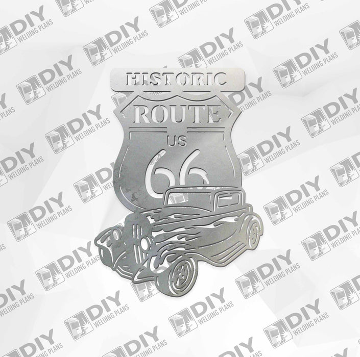Historic Route - US 66 - DXF File Only