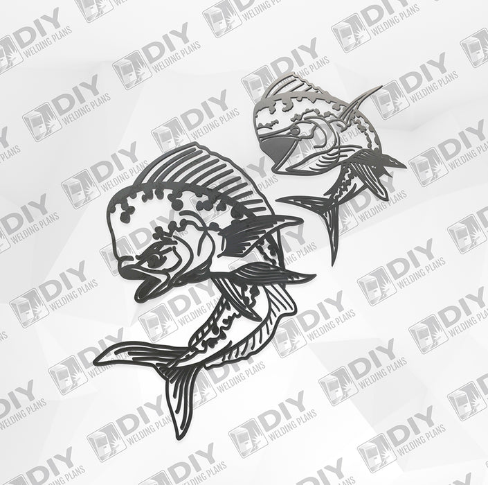 Mahi Mahi Bundle Pack - DXF File Only