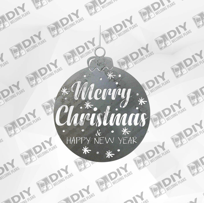 Merry Christmas Ball DXF Plasma File