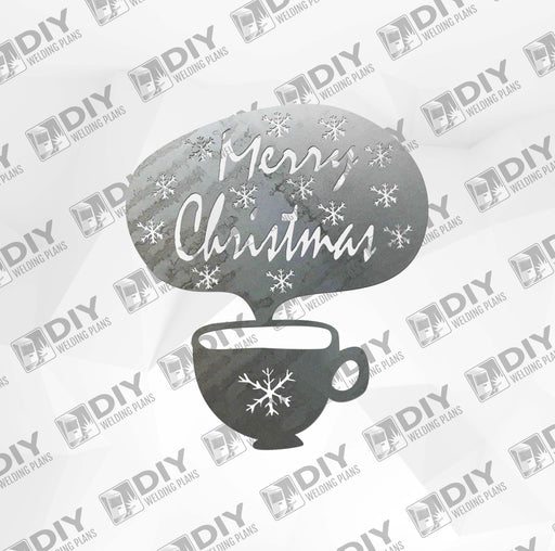 Merry Christmas Cup DXF Plasma File