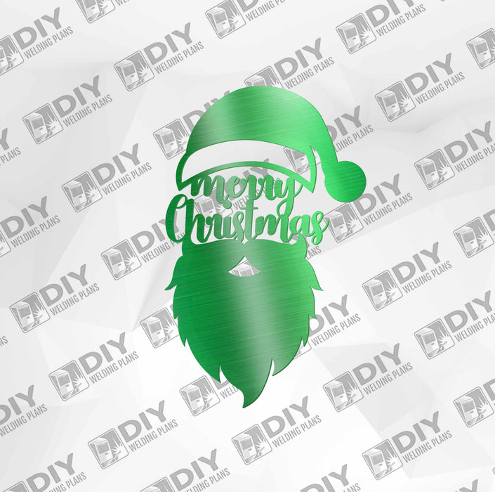 Merry Christmas Santa Face DXF Plasma File