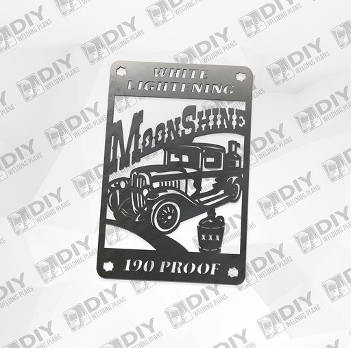 "16"" Moonshine Truck - 190 Proof - DXF File Only"