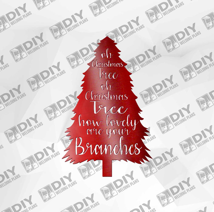 Oh Christmas Tree DXF Plasma File
