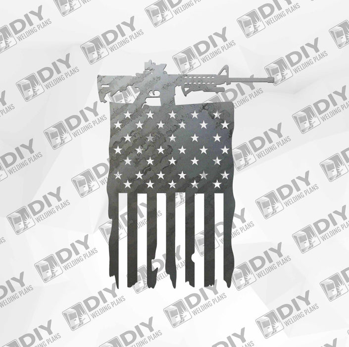 Patriotic Sign 10 DXF Plasma File