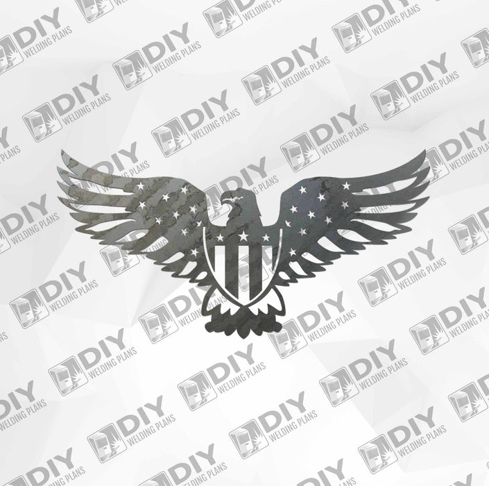 Patriotic Sign 11 DXF Plasma File