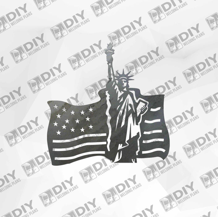 Patriotic Sign 12 DXF Plasma File