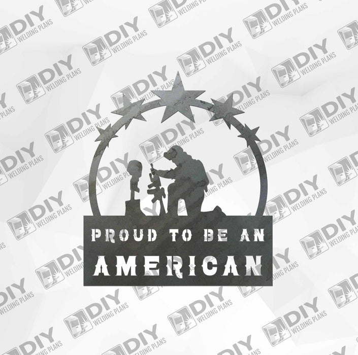 Patriotic Sign 18 DXF Plasma File