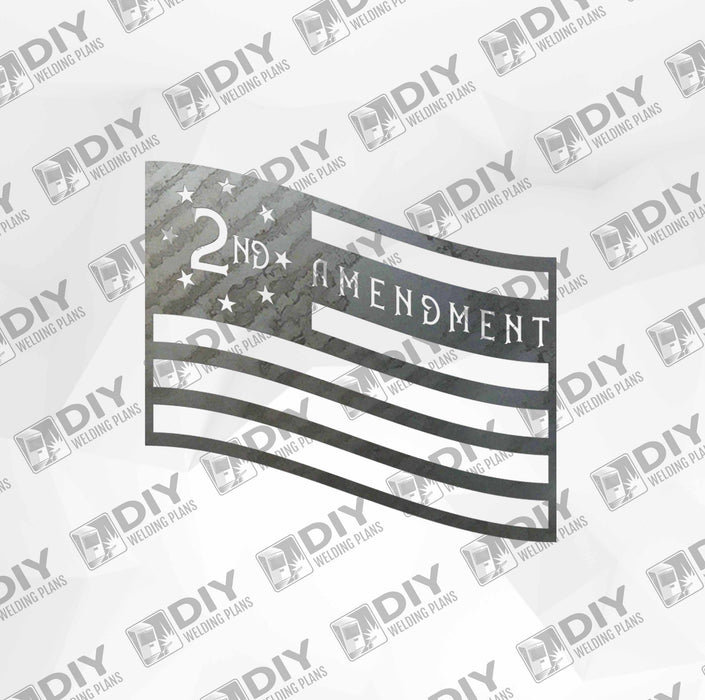 Patriotic Sign 1 DXF Plasma File