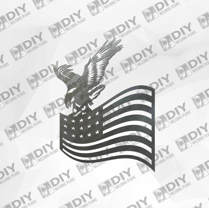 Patriotic Sign 21 DXF Plasma File