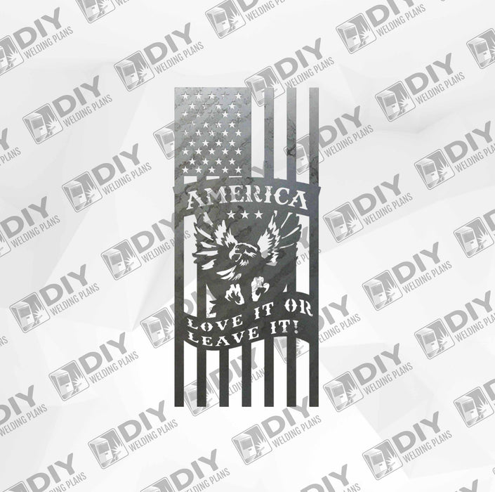 Patriotic Sign 2 DXF Plasma File