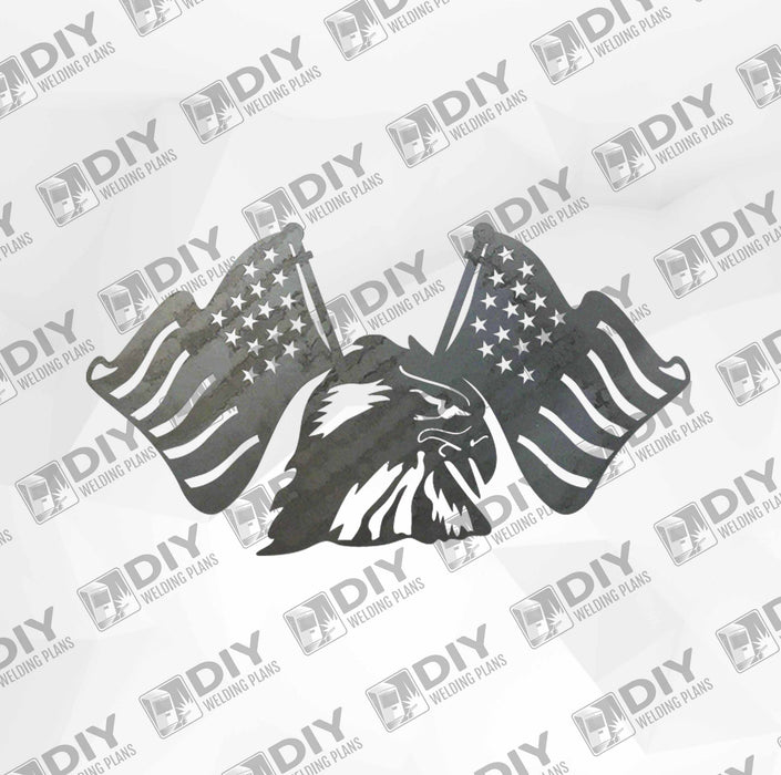 Patriotic Sign 3 DXF Plasma File