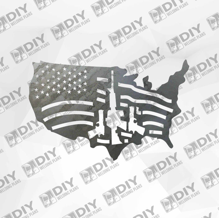 Patriotic Sign 4 DXF Plasma File