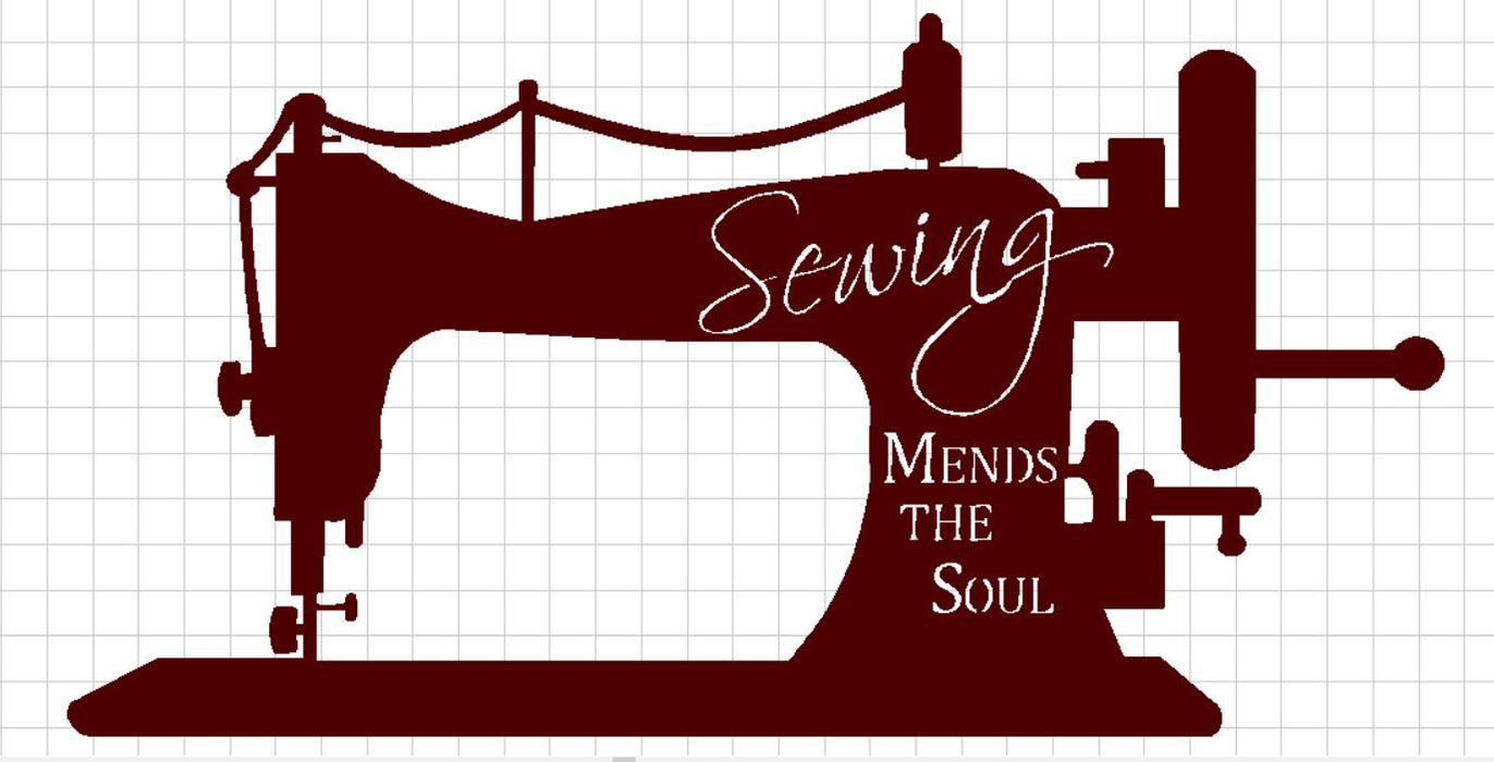 Sewing Mends the Soul - DXF File Only