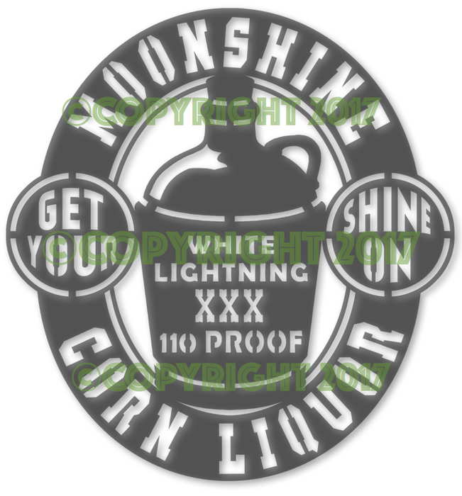 Shine On Moonshine Jug Plasma Laser DXF Cut File