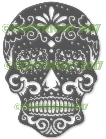 Sugar Skull Flower DXF Plasma File