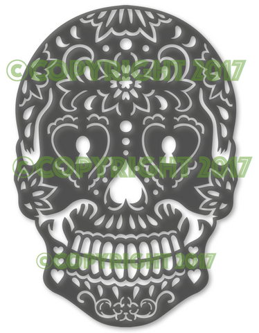 Candy Sugar Skull Key Hole DXF Plasma File