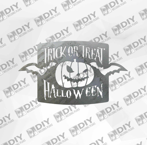 Trick or Treat Halloween Sign DXF Plasma File