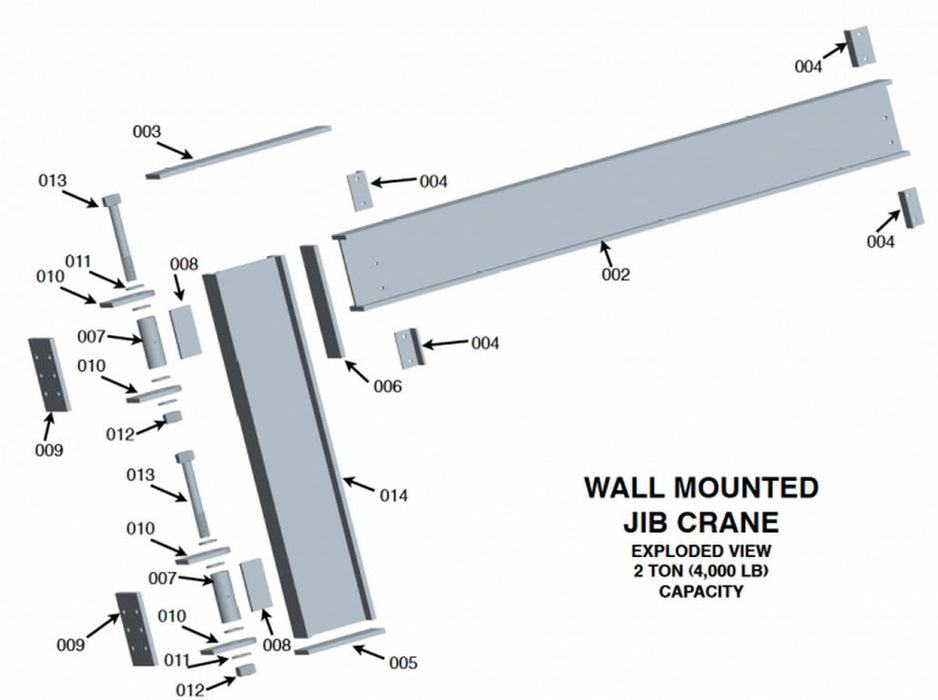 Column Mounted Jib Crane Welding Plans (2 ton capacity)