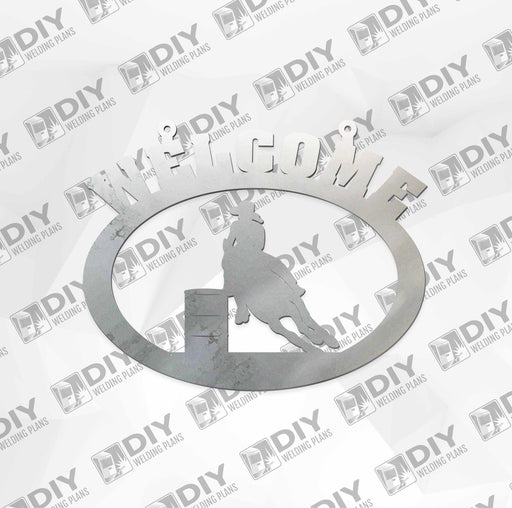 "18"" x 15"" Welcome Barrel Sign DXF Plasma File"