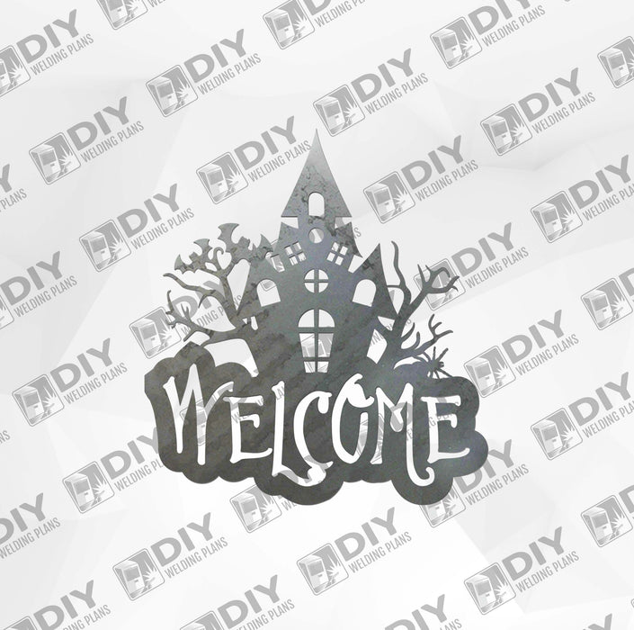 Halloween Castle 2 Welcome Sign DXF Plasma File