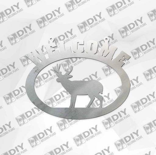 "18"" x 15"" Welcome Deer Sign DXF Plasma File"