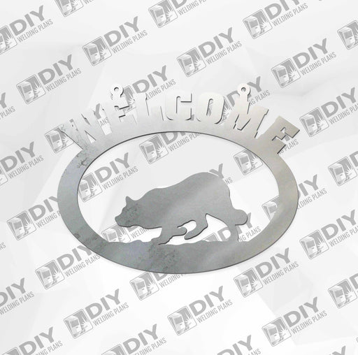 "18"" x 15"" Welcome Fox Sign DXF Plasma File"