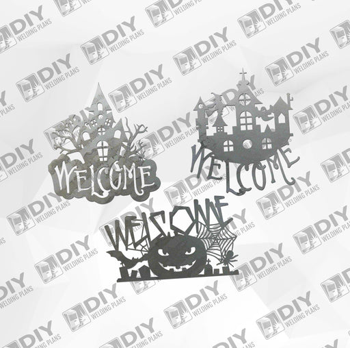 Halloween Welcome Sign Bundle 1 DXF Plasma File