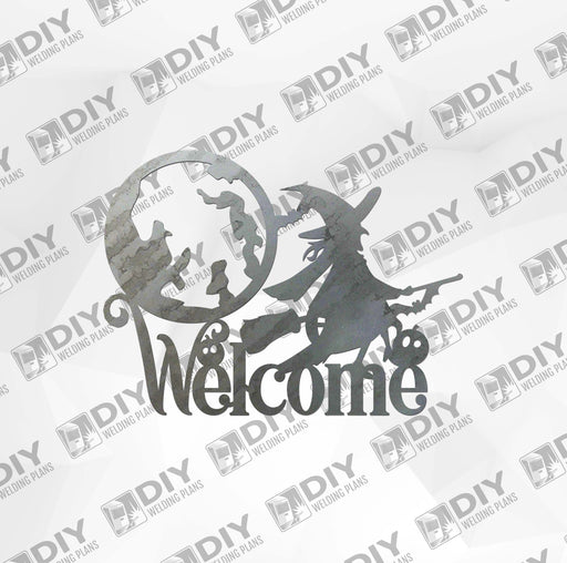 Halloween Witch Welcome Sign DXF Plasma File