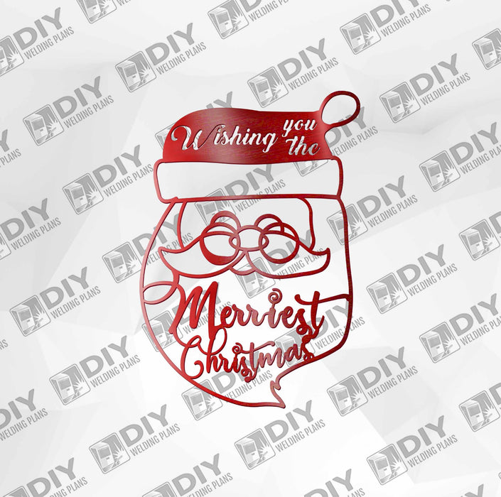 "13"" x 18"" Wishing You the Merriest Christmas DXF Plasma File"