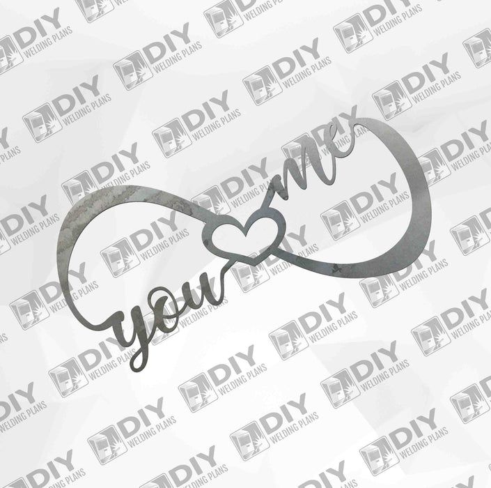 Infinity - You Me Forever Heart Small - DXF File Only