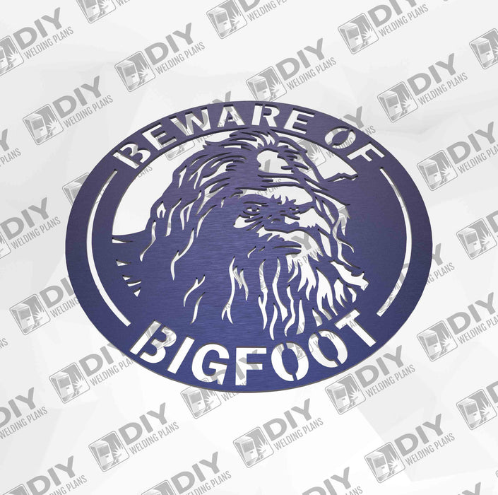"12"" Beware of Bigfoot Sign DXF Plasma File"
