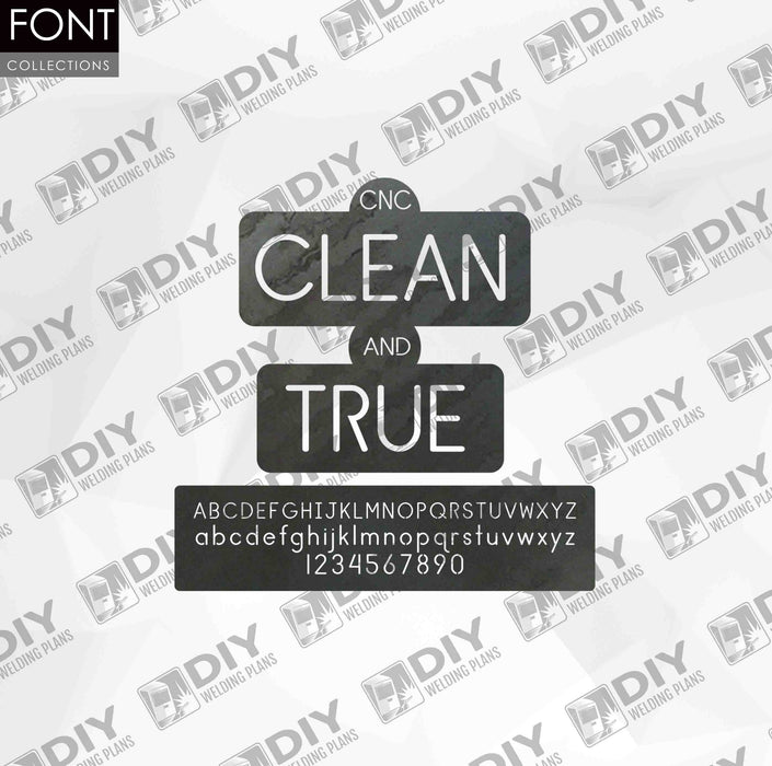 CNC Font - Clean and True Font - Custom Font for CNC