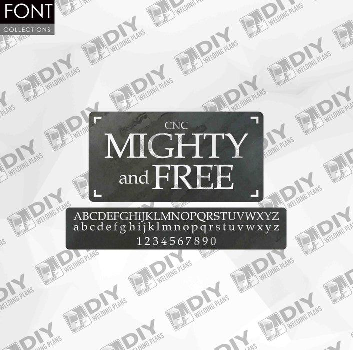 CNC Font - Mighty and Free Font - Custom Font for CNC