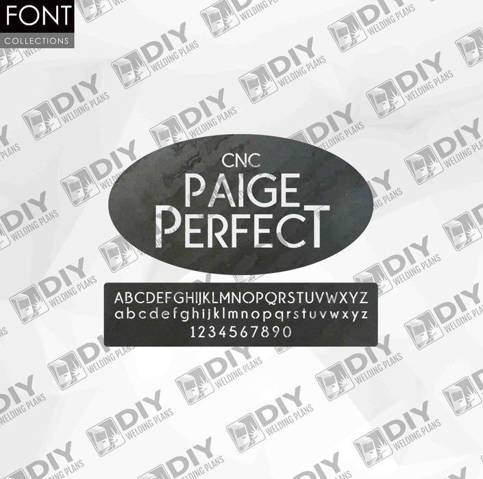 CNC Font - Paige Perfect Font - Custom Font for CNC