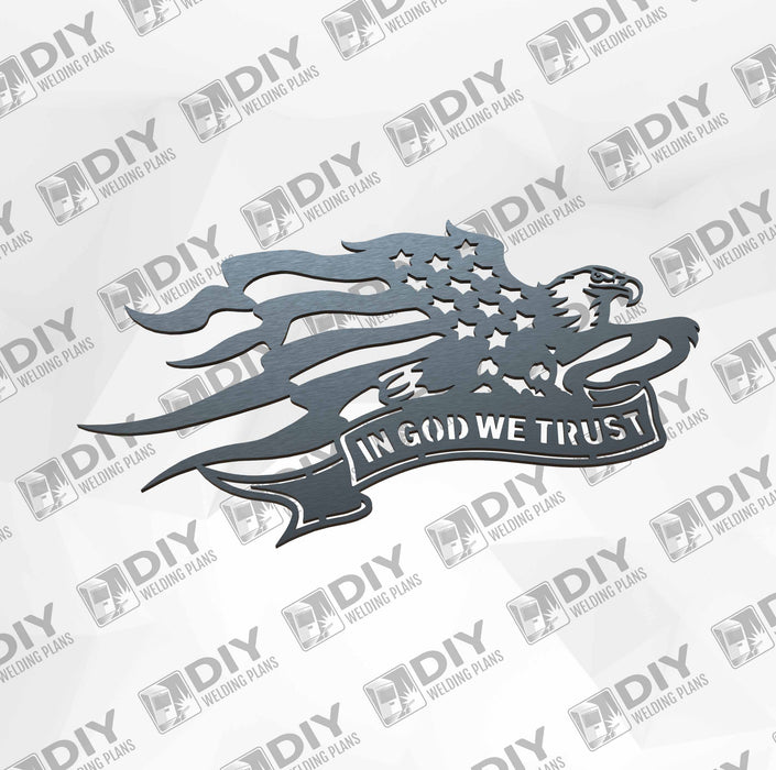 In God We Trust - DXF File Only