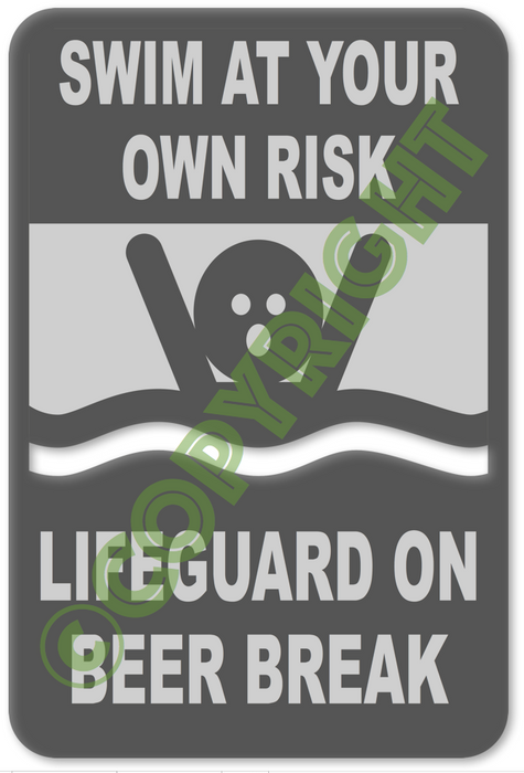 Lifeguard on Beer Break - DXF CNC File