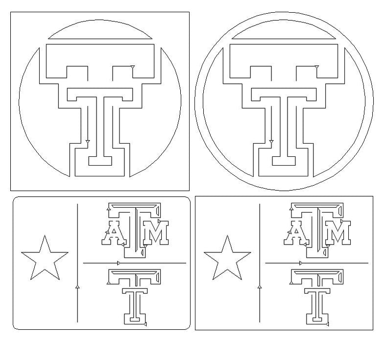 Texas Tech Vector File Cutouts - DXF File