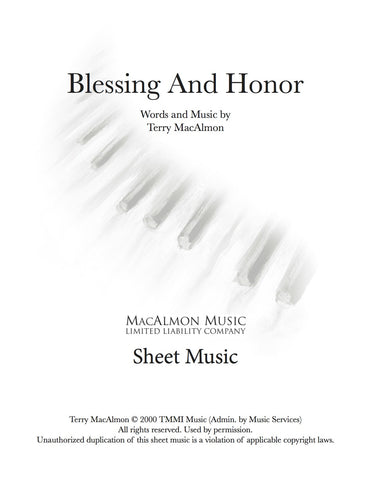 Blessing And Honor-Sheet Music (PDF Download) +Lead Sheet