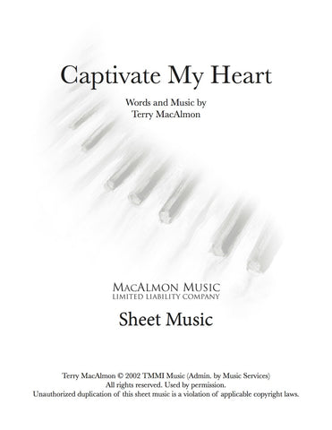 Captivate My Heart-Sheet Music (PDF Download) + Lead Sheet