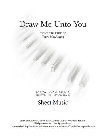 Draw Me Unto You-Sheet Music (PDF Download) + Lead Sheet