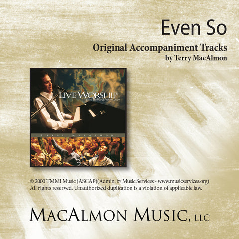 Even So (Accompaniment Tracks Download)