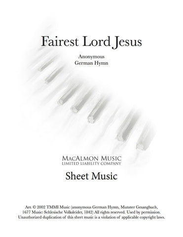 Fairest Lord Jesus-Sheet Music (PDF Download)